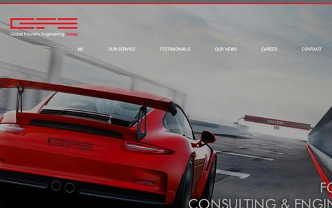 Screenshot of Home Page global-foundry-engineering.com - GFE Global Foundry Engineering, Germany, Foundry Consulting - captured Aug. 15, 2017