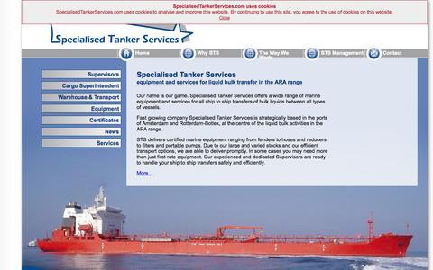 Screenshot of Home Page specialisedtankerservices.com - SpecialisedTankerServices.com - captured Oct. 6, 2014