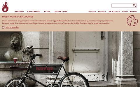 Screenshot of FAQ Page baresso.com - Kontakt Baresso Coffee - send ansøgning, spørgsmål m.m - captured Oct. 5, 2018