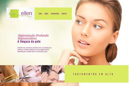 Screenshot of Home Page ellenesthetic.com.br - Ellen Esthetic - captured July 13, 2016