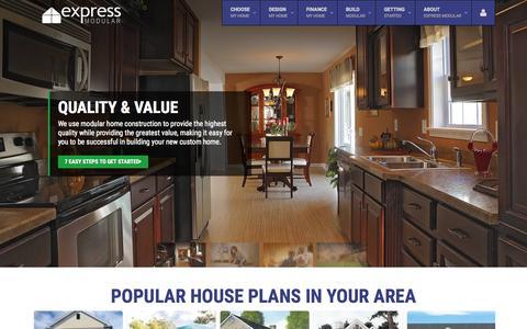 Screenshot of Home Page expressmodular.com - Express Modular | Modular Home Contruction - captured Nov. 23, 2015