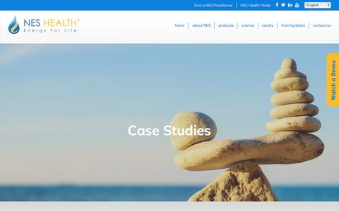 Screenshot of Case Studies Page neshealth.com - Case Studies Archive   NES Health - captured Sept. 20, 2018