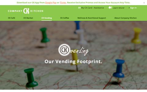 Screenshot of Locations Page companykitchen.com - Locations for CK Vending | Company Kitchen - captured May 20, 2017