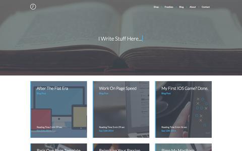 Screenshot of Blog ninetofive.me - ninetofive.me - Blog - captured Nov. 3, 2014