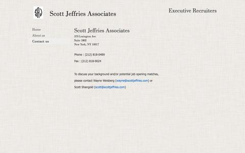 Screenshot of Contact Page scottjeffries.com - Contact us - captured Feb. 4, 2016