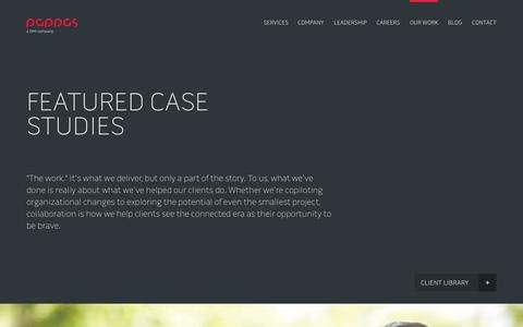 Screenshot of Case Studies Page pappasgroup.com - Case Studies Archive - Pappas Group Pappas Group - captured Oct. 1, 2014