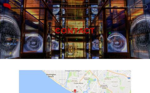 Screenshot of Contact Page offaydesignstudio.com - Contact — ODS - captured Nov. 28, 2016