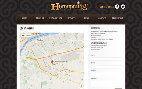 Screenshot of Contact Page hummazing.com - Hummazing - Contact - captured Feb. 2, 2016