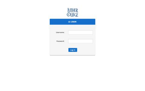Screenshot of Login Page luther.edu - Login | Luther College - captured Oct. 26, 2018