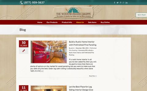 Screenshot of Blog woodworkersshoppe.com - Woodwork Tips - Wood Workers Shoppe - captured Feb. 15, 2016