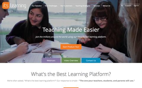 Screenshot of Home Page itslearning.net - itslearning - Learning Management System (LMS) | Next Generation Learning Platform - captured Sept. 20, 2015