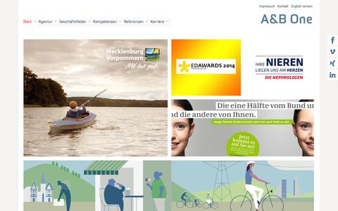 Screenshot of Home Page a-b-one.de - Start - A&B One - captured Oct. 3, 2014