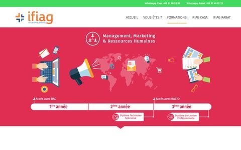 Screenshot of Team Page ifiag.ma - Pôle Management, Marketing & RH – IFIAG - captured Nov. 18, 2016