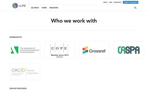 Who we work with | eLife