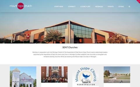 Screenshot of Locations Page mounthopechurch.org - locations - Mount Hope Church - captured Aug. 15, 2016