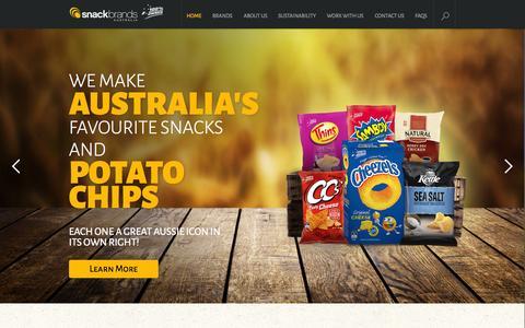 Screenshot of Press Page snackbrands.com.au - Snack Brands Australia - Home - captured Oct. 6, 2014