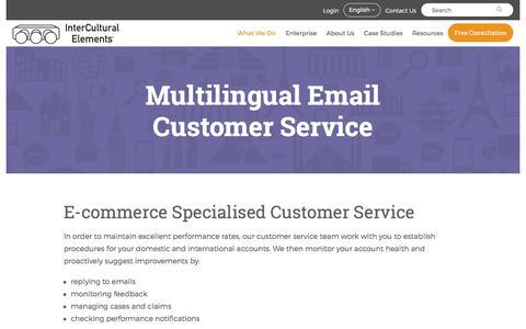 Screenshot of Support Page intercultural-elements.eu - InterCultural Elements Multilingual Customer Service - captured June 7, 2017