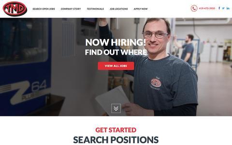 Screenshot of Jobs Page tmdinc.com - TMD Jobs : Find Automotive Manufacturing Engineering Jobs - captured Dec. 2, 2016