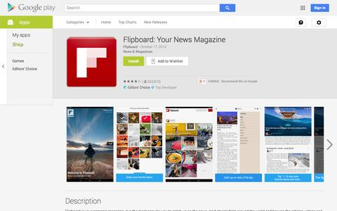 Screenshot of Android App Page google.com - Flipboard: Your News Magazine - Android Apps on Google Play - captured Oct. 28, 2014