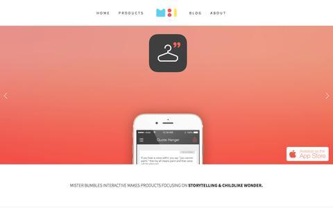 Screenshot of Home Page misterbumbles.com - Mister Bumbles Interactive - captured Dec. 30, 2015