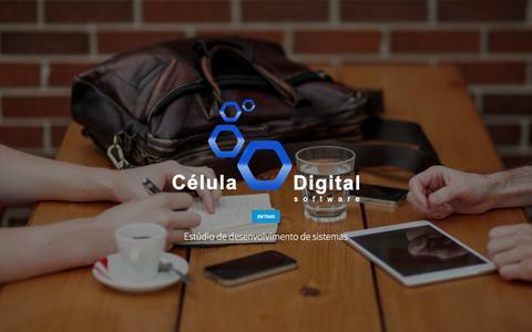 Screenshot of Home Page celuladigital.com.br - Célula Digital Software - Sistemas para Imobiliárias - captured Feb. 2, 2016