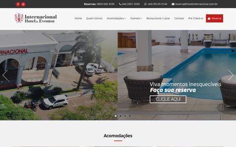 Screenshot of Home Page hotelinternacional.com.br - Hotel Internacional - captured Oct. 23, 2018