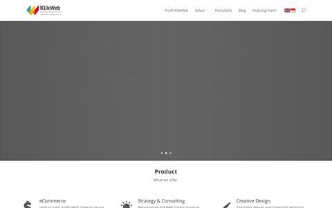 Screenshot of Home Page klik-web.com - KlikWeb.com | Website Development and Internet Marketing - captured Oct. 10, 2015