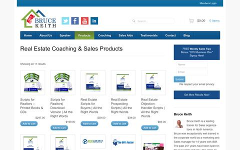 Screenshot of Products Page brucekeithresults.com - Products – Bruce Keith Results - captured Jan. 7, 2016
