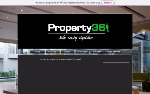 Screenshot of Blog property36.net - 36 | Blog - captured July 24, 2018