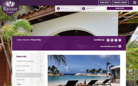 Screenshot of Privacy Page baoase.com - Privacy Policy - Baoase Luxury Resort Curaçao - captured Nov. 22, 2016