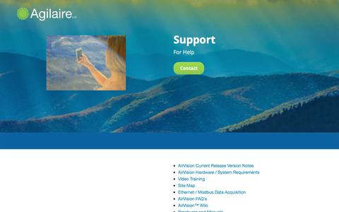 Screenshot of Support Page agilaire.com - Support   Agilaire LLC - captured Nov. 20, 2016