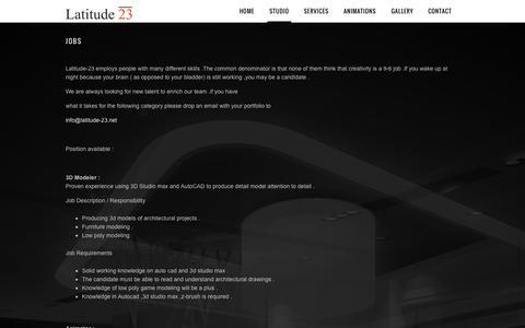 Screenshot of Jobs Page latitude-23.net - Jobs ‹ Latitude-23 - captured Oct. 22, 2014