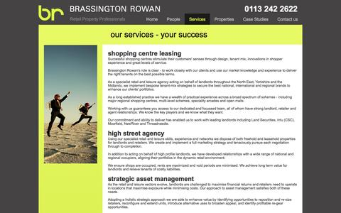 Screenshot of Services Page brassrow.co.uk - Services - captured Nov. 23, 2016