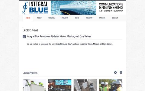 Screenshot of Home Page integral-blue.com - Integral Blue   Communications Engineering and Systems Integration - captured Sept. 19, 2018