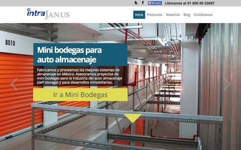 Screenshot of Home Page intrajanus.com.mx - Cortinas de acero, mini bodegas y bodegas prefabricadas - captured Sept. 30, 2014