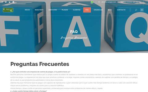 Screenshot of FAQ Page e-plagas.com - FAQ | E-plagas.com - captured Sept. 30, 2018