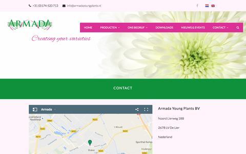 Screenshot of Contact Page armadayoungplants.nl - Neem contact met ons op - Armada Young Plants - captured Nov. 21, 2016