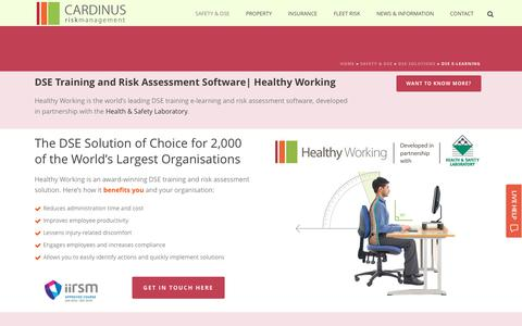 Screenshot of Trial Page cardinus.com - Award-Winning DSE Training Software Developed with HSL - captured Oct. 23, 2016