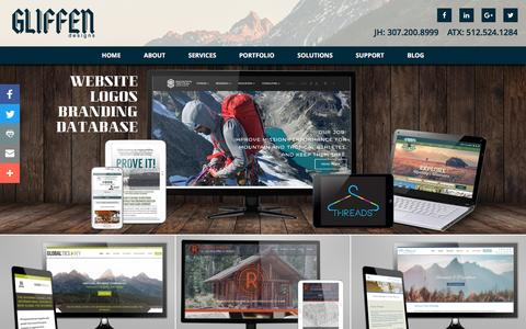 Screenshot of Home Page gliffen.com - Gliffen Designs, Jackson Hole Web Design and Development - captured Nov. 7, 2016