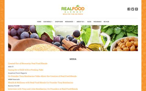 Screenshot of Press Page realfoodblends.com - News & Press Releases: Information & Research | Real Food Blends - captured Sept. 21, 2018