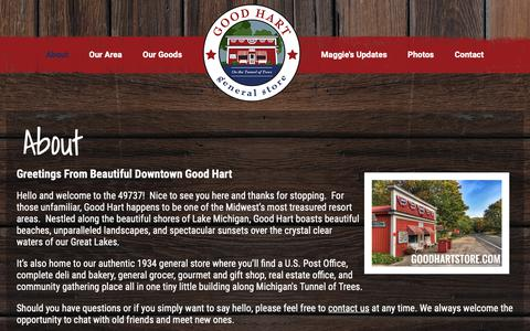 Screenshot of About Page goodhartstore.com - About  |  Good Hart General Store - captured Nov. 11, 2018