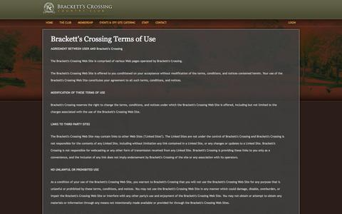 Screenshot of Terms Page brackettscrossingcc.com - Brackett's Crossing Country Club | Terms of Use - captured Oct. 5, 2014