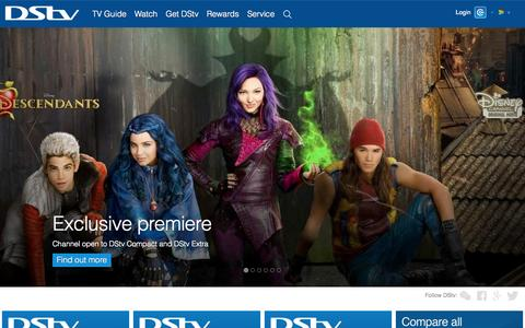 Screenshot of Home Page dstv.com - DStv | Movies | Sport | Series | Music | TV Guide | Entertainment - captured Sept. 7, 2015