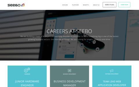 Screenshot of Jobs Page seebo.com - Careers at Seebo new - Seebo - captured Feb. 16, 2016