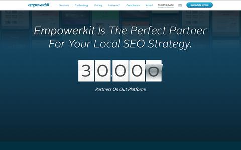 Screenshot of About Page empowerkit.com - Empowerkit Provides Franchisors with Perfect Local SEO Platform - captured July 19, 2018
