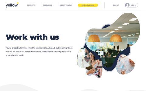 Screenshot of Jobs Page yellow.co.nz - Careers   Yellow® NZ - captured Jan. 17, 2020