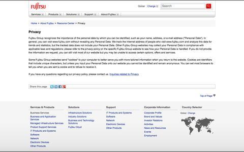 Privacy : Fujitsu Global