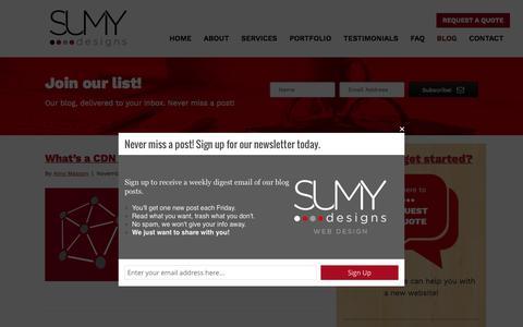 Screenshot of Blog sumydesigns.com - Blog - Sumy Designs - captured Dec. 2, 2016