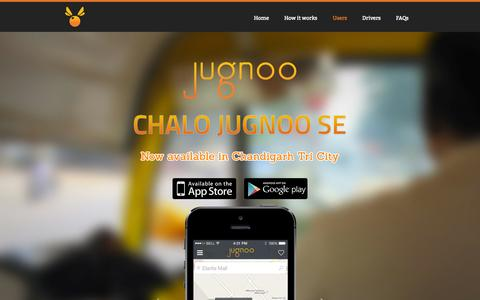 Screenshot of Home Page jugnoo.in - Jugnoo - captured Sept. 30, 2014