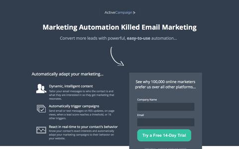 Screenshot of Landing Page activecampaign.com - Email Marketing From ActiveCampaign - captured June 10, 2017